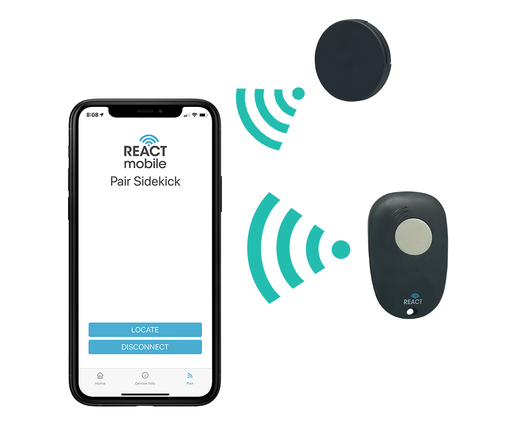 React Mobile App Sidekick Panic Button Beacon Better Solution